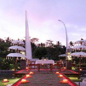 Bali Honeymoon Packages The Kayon Resort By Pramana Romantic Dining