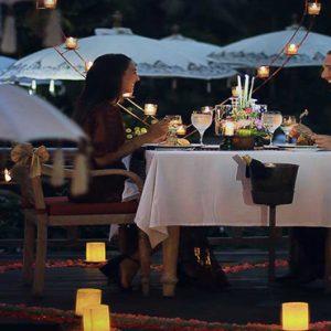 Bali Honeymoon Packages The Kayon Resort By Pramana Romantic Dining3