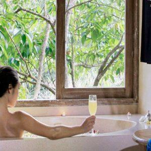 Bali Honeymoon Packages The Kayon Resort By Pramana Woman In Spa Bath