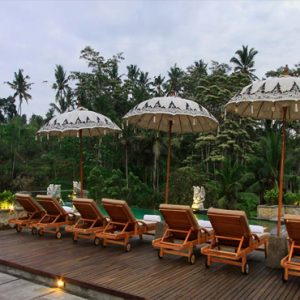 Bali Honeymoon Packages The Kayon Resort By Pramana Pool With Sun Loungers
