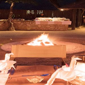 Buffalo Camp Outdoor Dining At Night Kapama Private Game Reserve South Africa Honeymoons