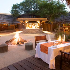 River Lodge Outdoor Dining At Night Kapama Private Game Reserve South Africa Honeymoons