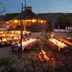 River Lodge Outdoor Dining At Night1 Kapama Private Game Reserve South Africa Honeymoons