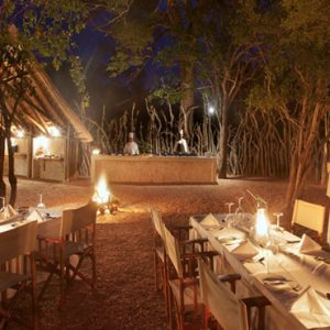 Southern Camp Outdoor Dining At Night Kapama Private Game Reserve South Africa Honeymoons