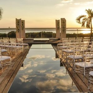 Wedding Setup Now Emerald Cancun Mexico Honeymoons