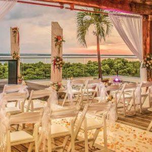 Wedding Setup1 Now Emerald Cancun Mexico Honeymoons