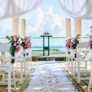Wedding Setup2 Now Emerald Cancun Mexico Honeymoons