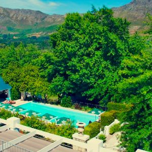 Aerial View Le Franschhoek Hotel & Spa South Africa Honeymoons