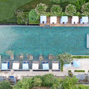 Aerial View By Pool Hotel Indigo Bali Seminyak Beach Bali Honeymoons