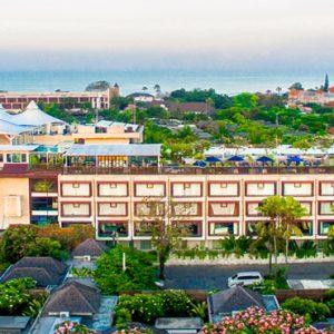 Aerial View De Vins Sky Hotel Seminyak Bali Honeymoons