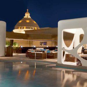 Pool At Night V Hotel Dubai, Curio Collection By Hilton Dubai Honeymoons