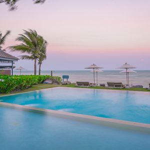 Pool At Sunset Devasom Hua Hin Resort Thailand Honeymoons