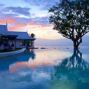 Pool At Sunset1 Devasom Hua Hin Resort Thailand Honeymoons