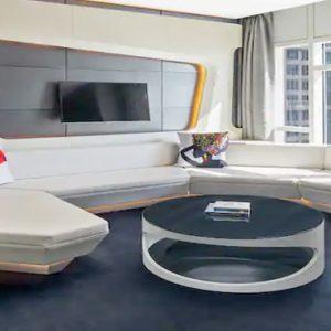Round Bed V Suite1 V Hotel Dubai, Curio Collection By Hilton Dubai Honeymoons