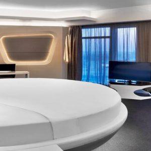 Round Bed Deluxe Suite V Hotel Dubai, Curio Collection By Hilton Dubai Honeymoons