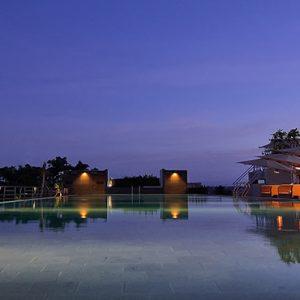 Sky Pool At Night De Vins Sky Hotel Seminyak Bali Honeymoons
