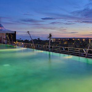 Sky Pool At Night1 De Vins Sky Hotel Seminyak Bali Honeymoons