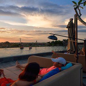 Sunset At Sky Pool De Vins Sky Hotel Seminyak Bali Honeymoons