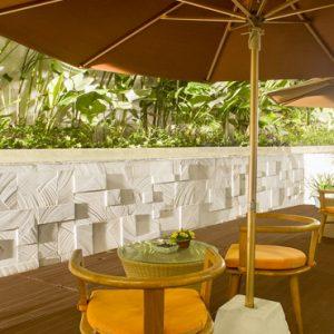 Terrace Area De Vins Sky Hotel Seminyak Bali Honeymoons