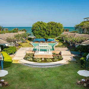 Aerial View Devasom Hua Hin Resort Thailand Honeymoons