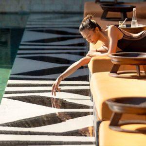 Woman By Pool Hotel Indigo Bali Seminyak Beach Bali Honeymoons