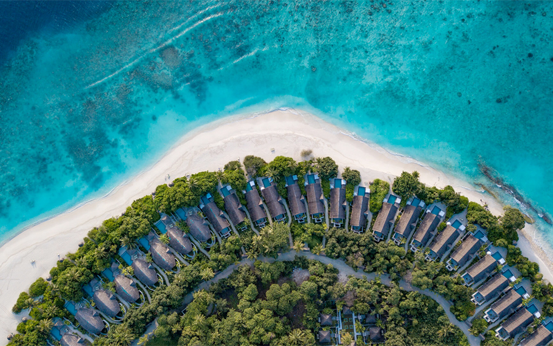Aerial View Of Furaveri 10 Maldives Resorts With Virtual Tours