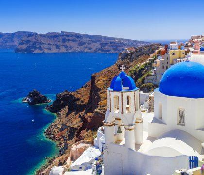 a picture of Santorini