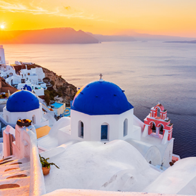 Sunset In Santorini Honeymoon Cruises