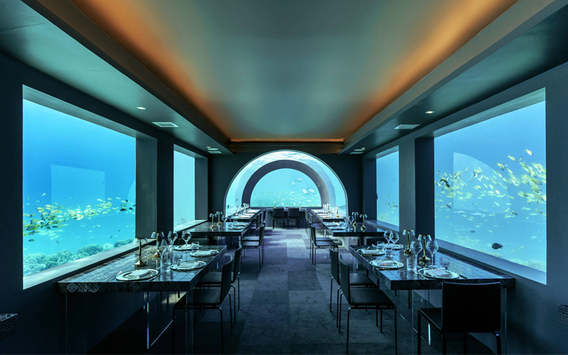 Underwater Restaurant You & Me By Cocoon 10 Maldives Resorts With Virtual Tours