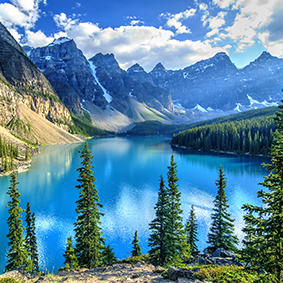 Lake In The Rocky Mountains In Canada Adventure Honeymoons