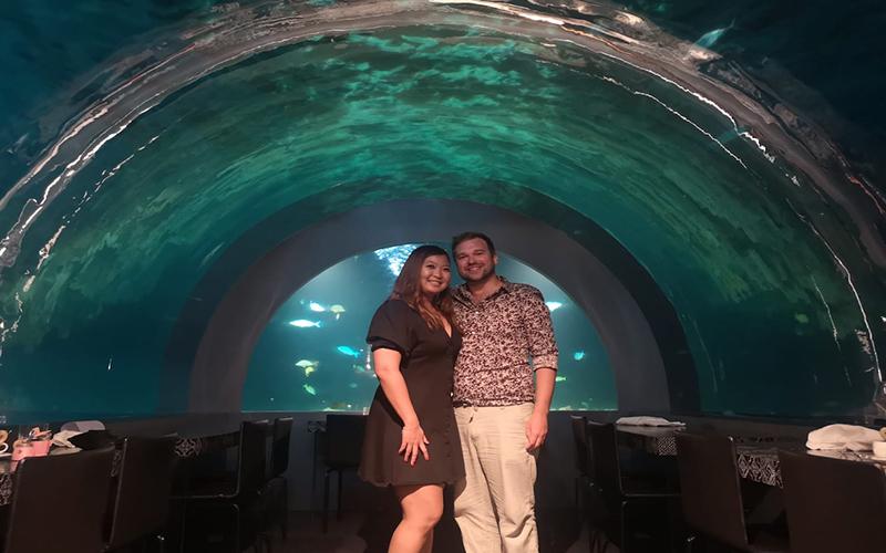 Tia And Chris's Amazing Maldives Honeymoon You&Me Maldives Honeymoon H20 Restaurant