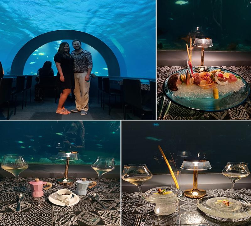 Tia And Chris's Amazing Maldives Honeymoon You&Me Maldives Honeymoon H20 Underwater Restaurant